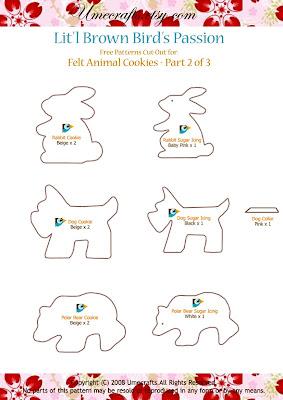 DIY+Cookies+ +Ptn2 - Biscoitinhos de feltro
