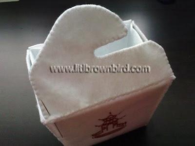 DSC08979 - Caixinha para comida japonesa em feltro