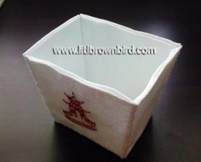 DSC08973 - Caixinha para comida japonesa em feltro