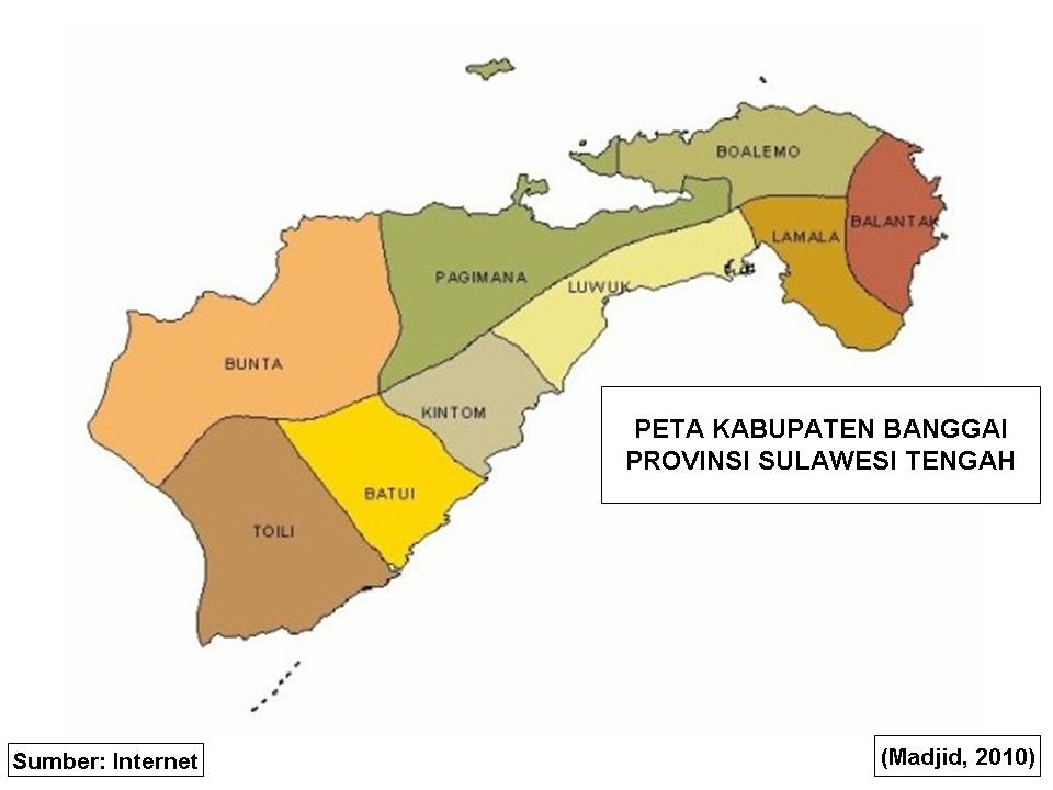 PETA DIGITAL: Peta Kabupaten Banggai Provinsi Sulawesi Tengah