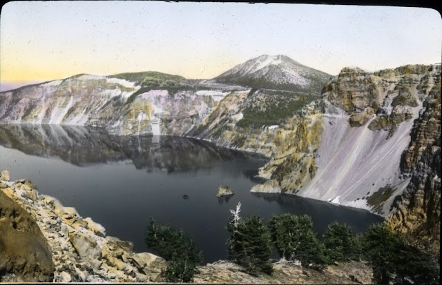 Image Title: Crater Lake and Mt. Scott Original Format: Lantern slides Original Collection: Visual Instruction Department Lantern Slides. photography-news.com, Photography News, Diana Topan, Crater Lake, Oregon photos, landscape photography