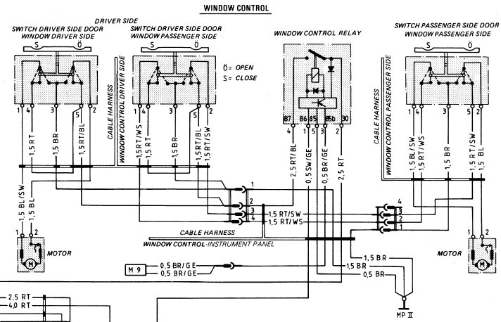 porsche 924 wiring diagram 2006 chrysler 300c radio 944 power window auto electrical