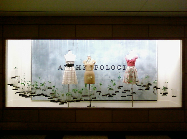 anthropologie, store displays, anthropologie store displays, window art, anthro, window displays, installations