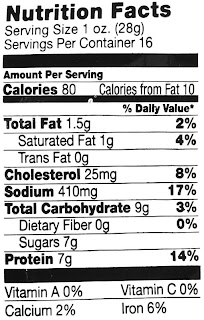 pecos bill beef steak nuggets nutrition label