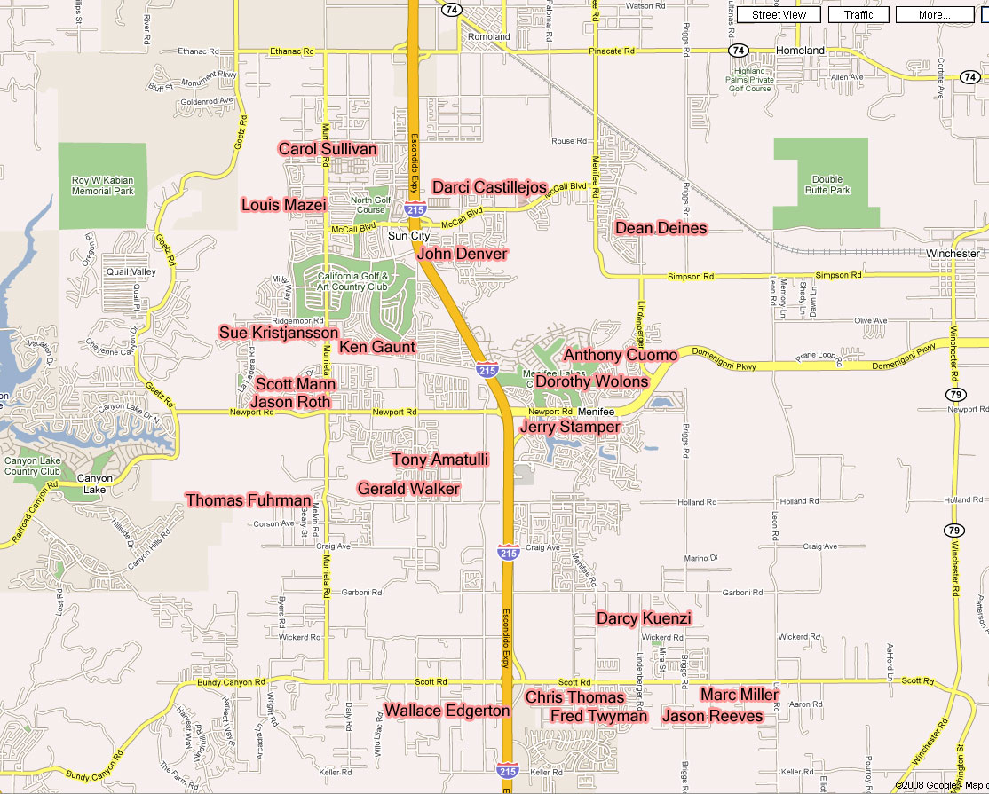 Menifee City Council Candidate Map Menifee 24 7