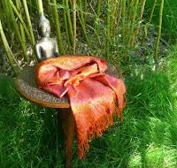 étole soie rose orange c91f8aec5c4