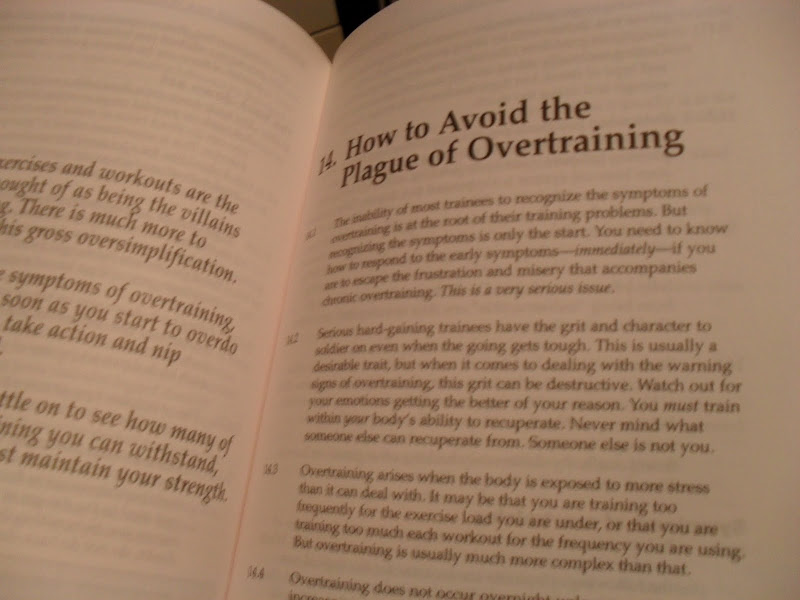 How to avoid the plague of overtraining book picture