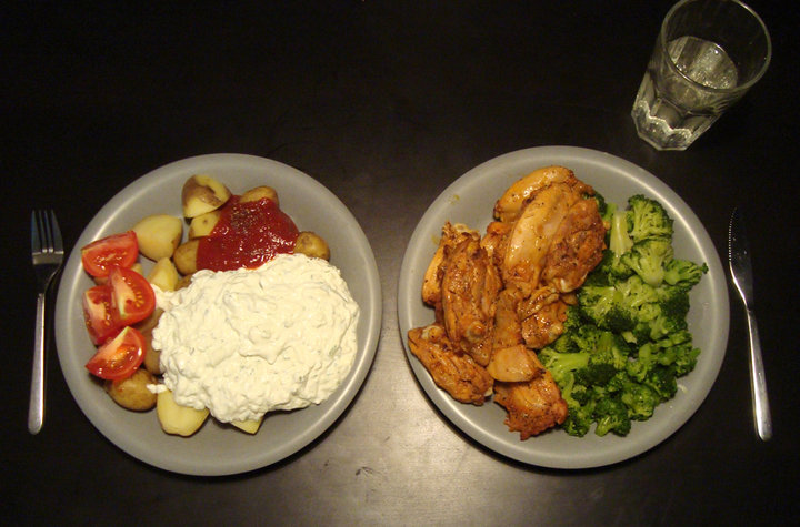 Chicken, Broccoli, Potatoes with extras