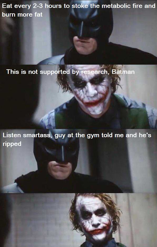 Batman and the Joker talk about metabolic fire