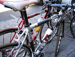 Older Cannondales..Simoni's in Front