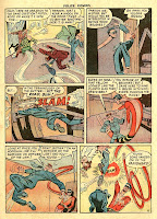 Cartoon characters slam a door on Plastic Man in a vintage old comic book page by Alex Kotzky.