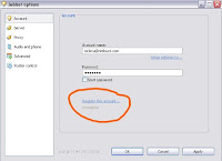 Register Nimbuzz id via jabber client