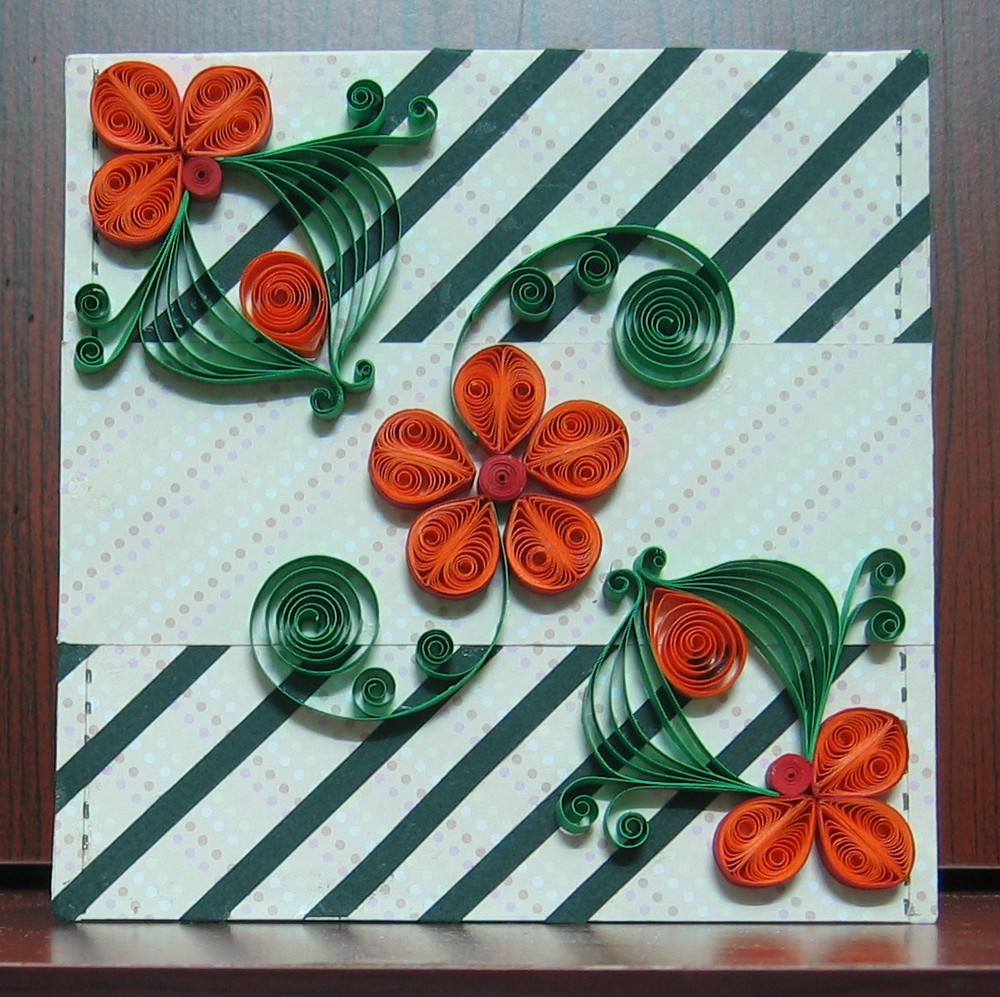 daydreams quilled flower card