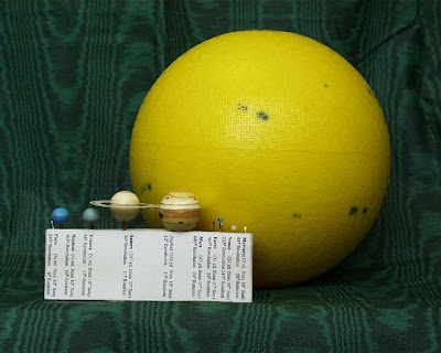 solar system model to scale - photo #38