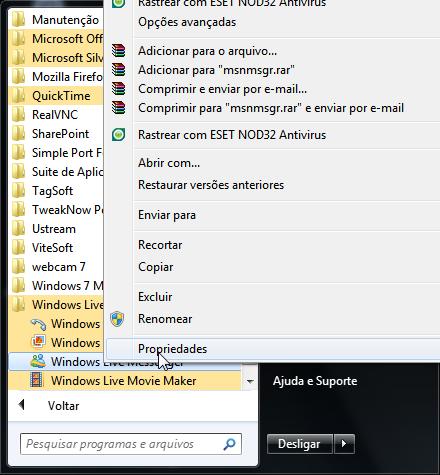 Faça o MSN Minimizar para a bandeja do sistema no Windows 7