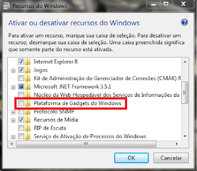 Gadgets Windows 7