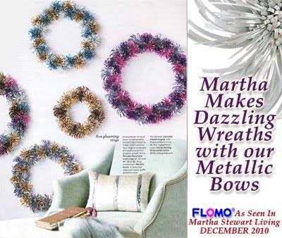flomo blog flomo metallic bows as seen in martha stewart living magazine. Black Bedroom Furniture Sets. Home Design Ideas