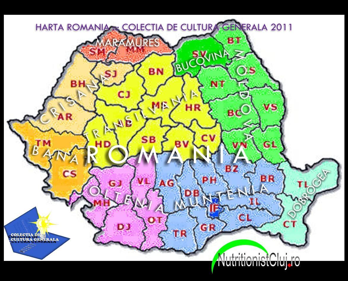 Colectia De Cultura Generala Romania O Lista Colorata Cu Judete