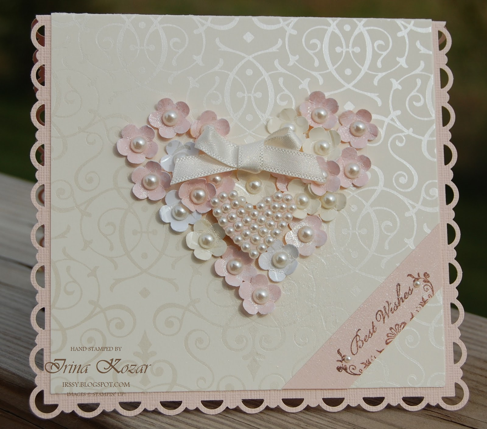 Wedding Cards: Stampin' With Irina: Flower Heart Wedding Card