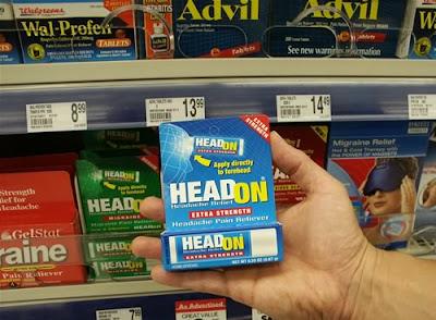 headon migraine and extra