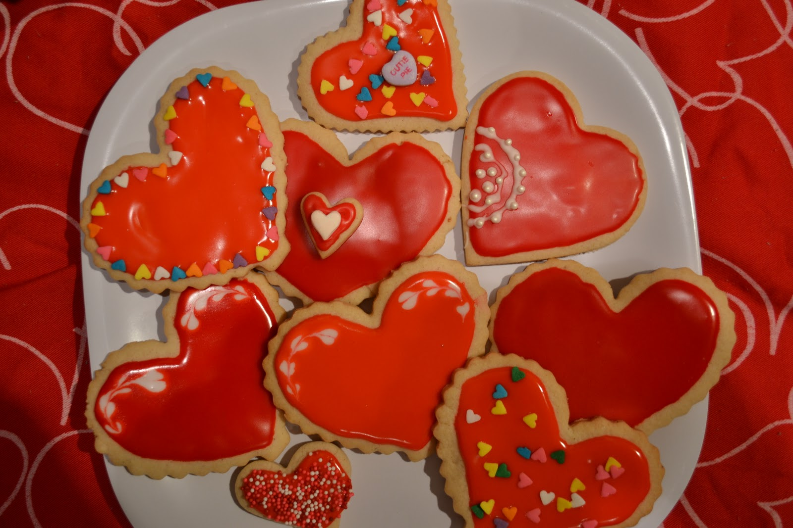 Sprinkles Of Flavor Valentine S Day Cookies With Glaze Icing