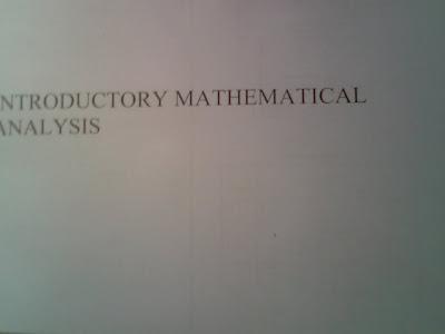 Xela Book Store 杰赉書城: Introductory Mathematical Analysis Book