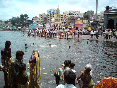 River Godavari in Nashik where Kumbha mela is held every 12 years