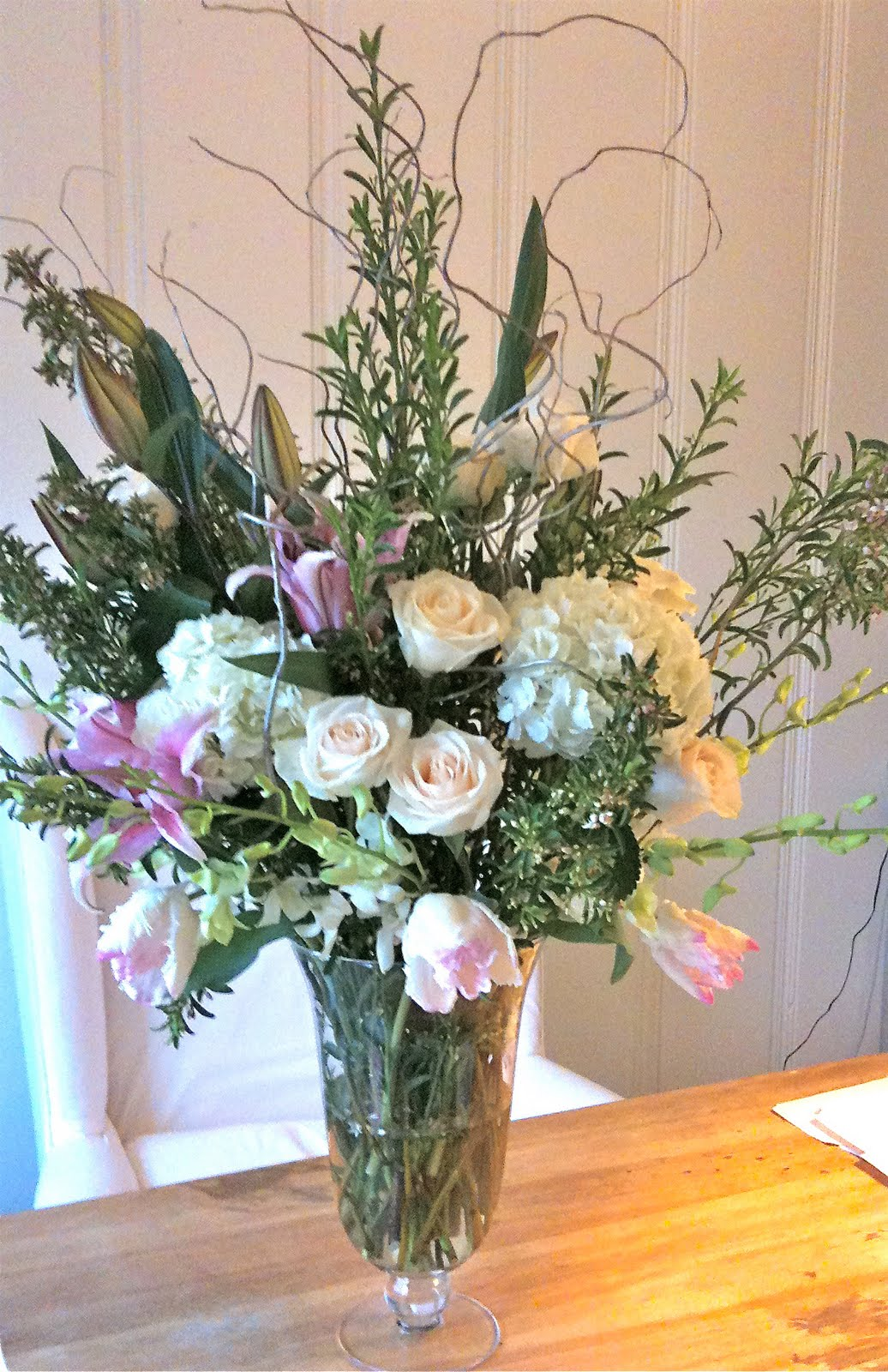 Diy Large Flower Arrangement Centerpiece