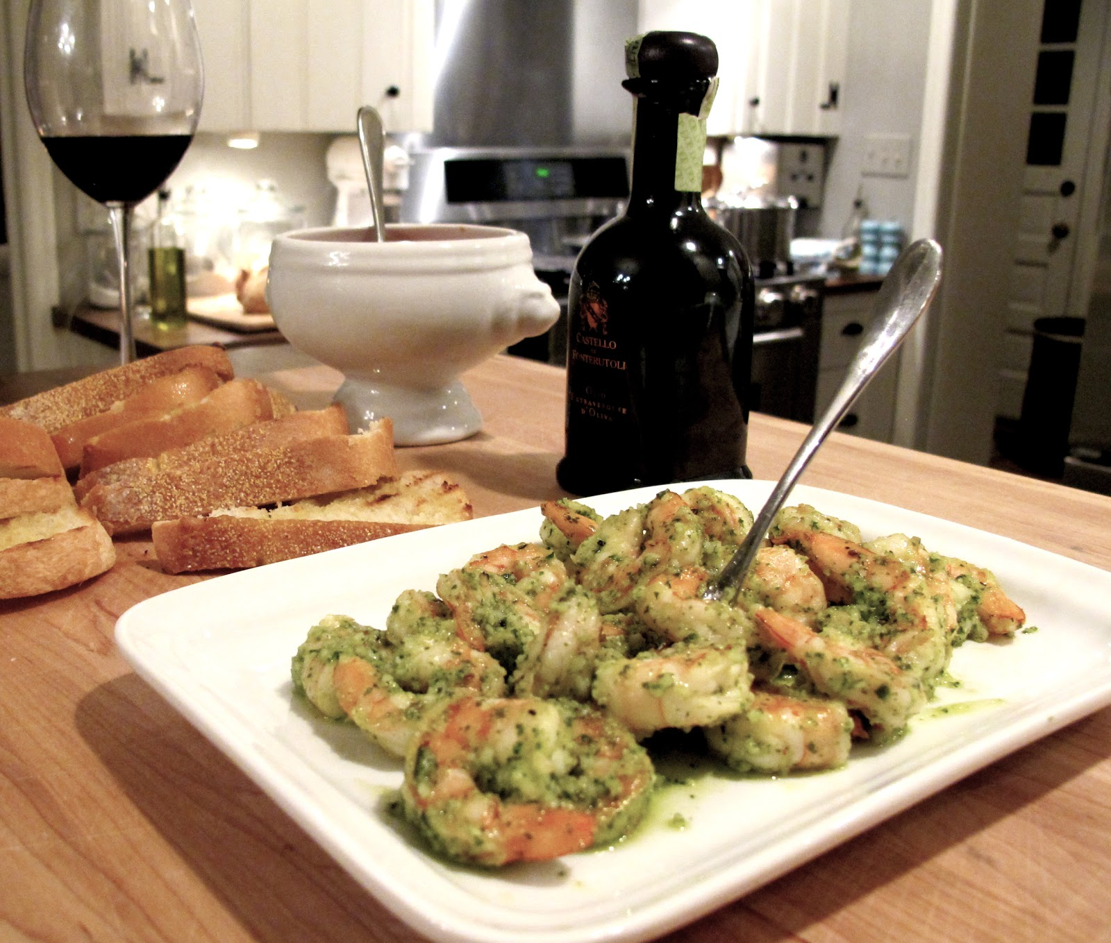 Recipes Shrimp Pesto Etizer Tomato Olive Bruschetta Tuscan Pasta Dinner Party Menu