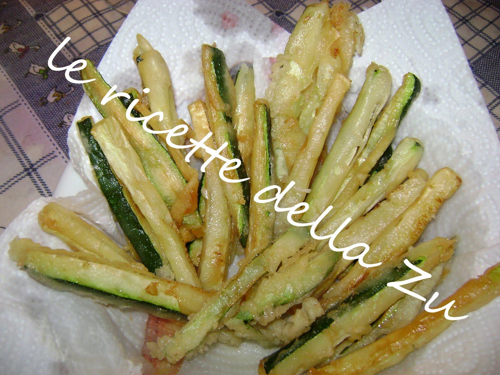 Le ricette della zu fiammiferi di zucchine fritte for Cucinare zucchine