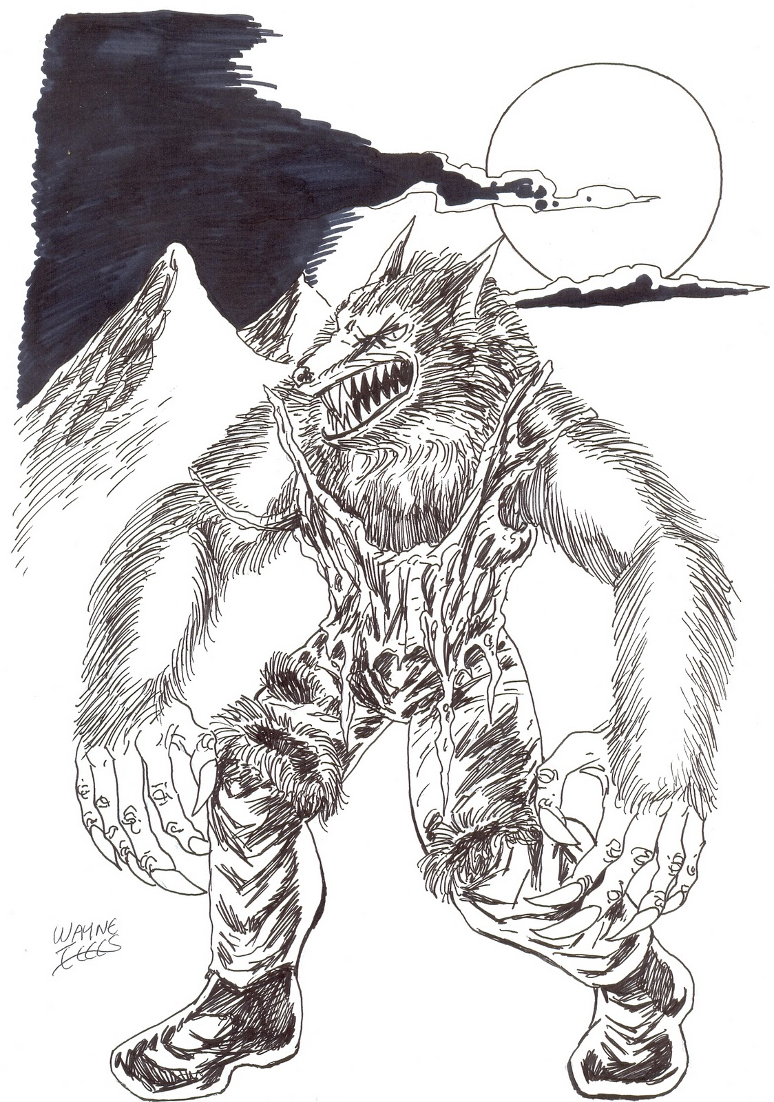 Uncategorized How To Draw A Werewolf Step By Step wayne tully fantasy art how to draw a werewolf drawing tutorial
