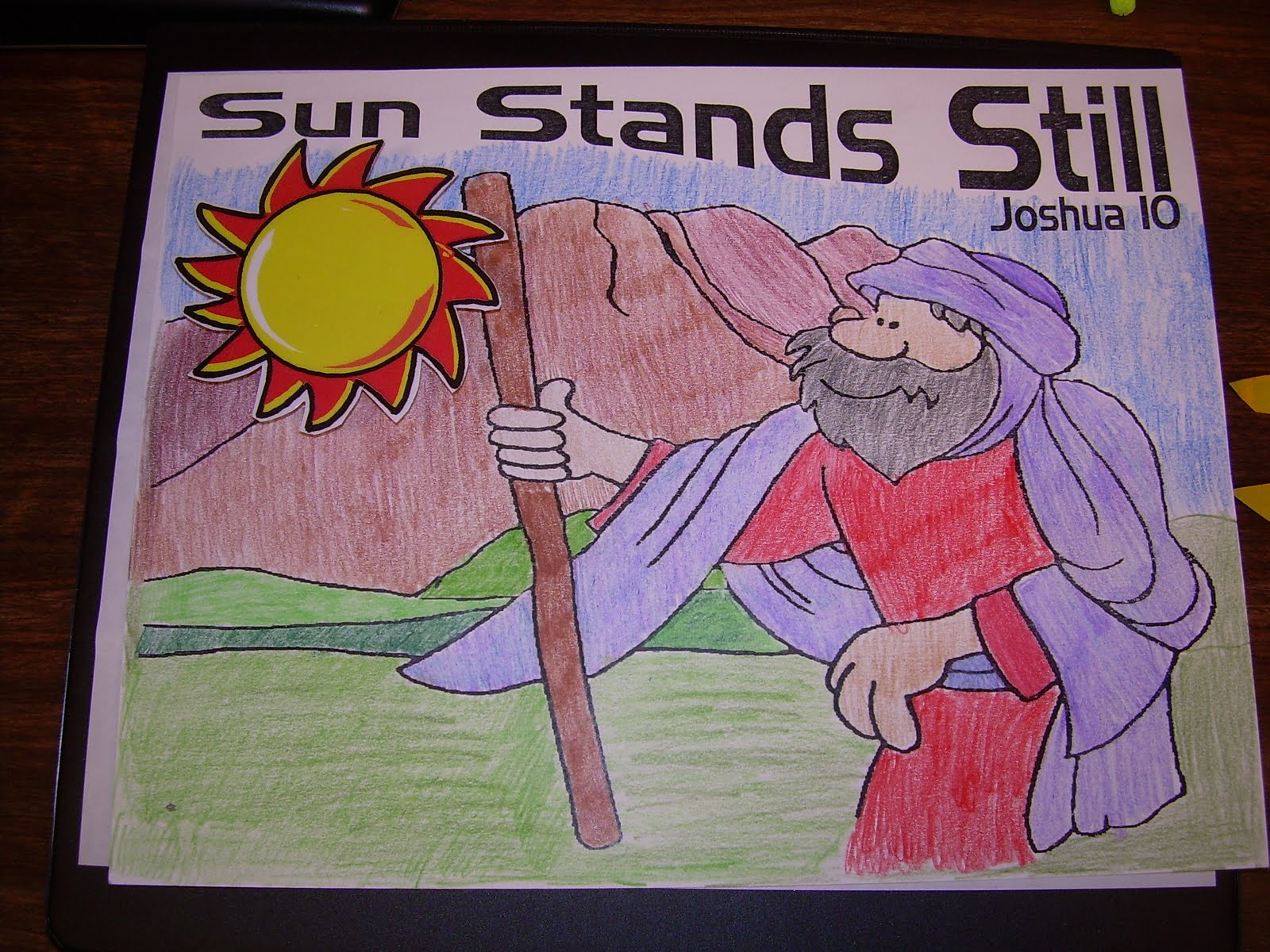sun stands still coloring page - hands on bible teacher joshua the day the sun stood still