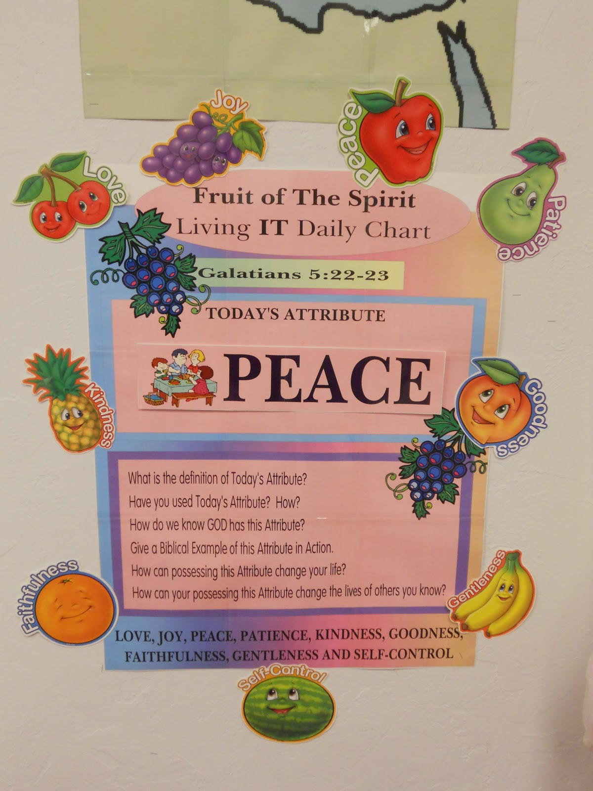 Fruit Of The Spirit Cadence Color Poster