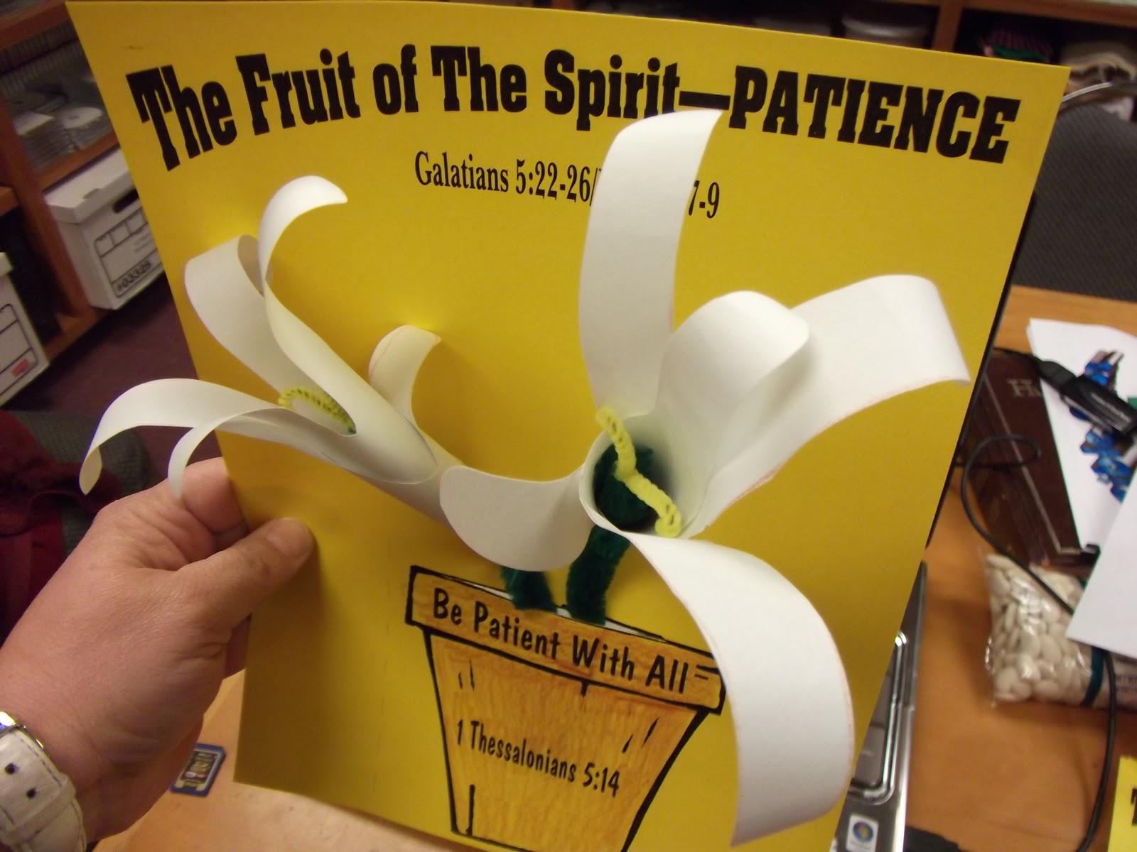 Hands On Bible Teacher Fruit Of The Spirit Patience