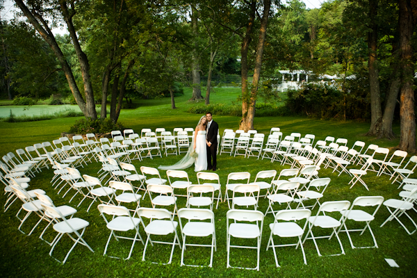 Brown Chairs Outdoor Ceremony Decorations: A Jersey Hootenanny Wedding: Circle Of Love
