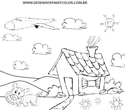 Desenho De Unhas Desenho Paisagem Colorirdesenhos Infantis