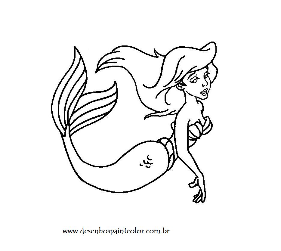 Desenho De Sereia Ariel Para Colorir Desenhos Infantis No