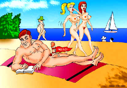 funny naked cartoons