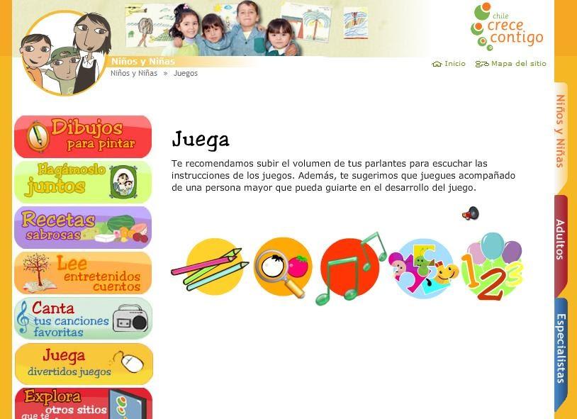 Fonoaudiología: Salud Y Educación: SITIO WEB: CHILE CRECE