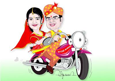 Webcartoonist Drawn For Wedding Invitation Card
