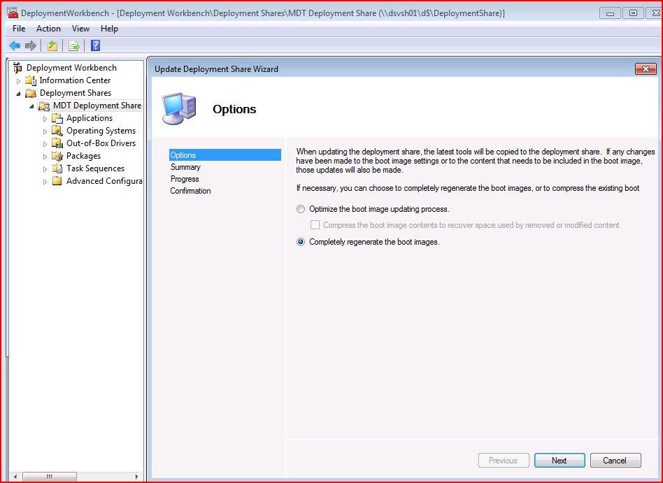 Problem with MDT 2010 when DeploymentShare location is