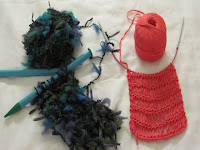 2 starts for knitted scarves