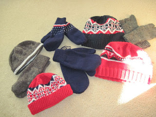 knitted hats, mittens from France
