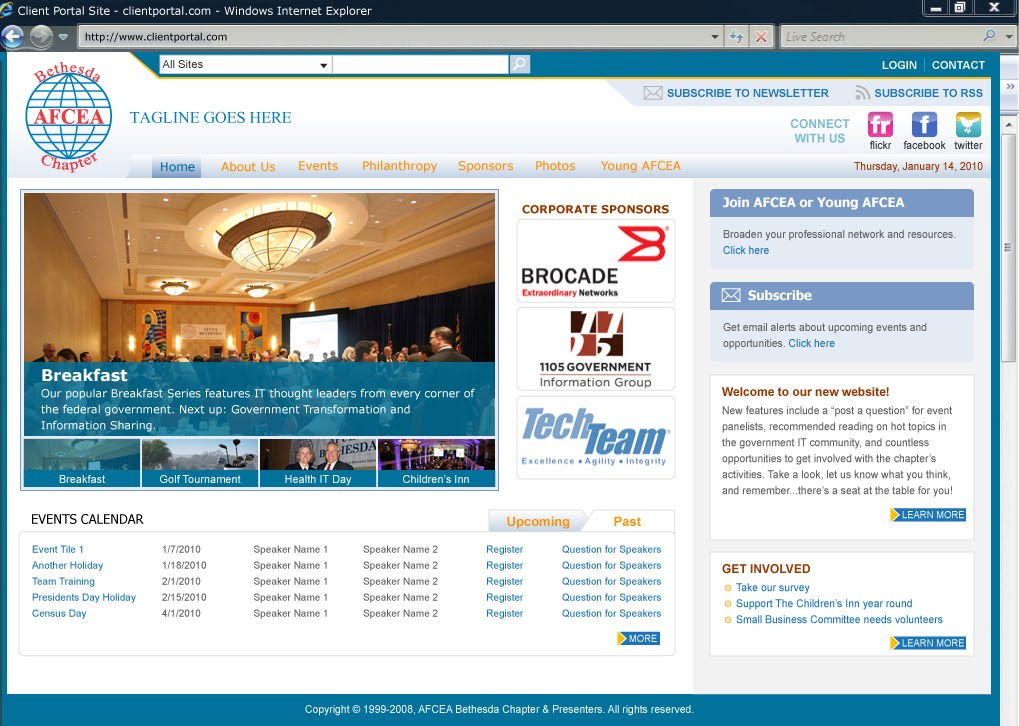 Celina moser baginski sharepoint branding portfolio for Sharepoint 2007 site templates