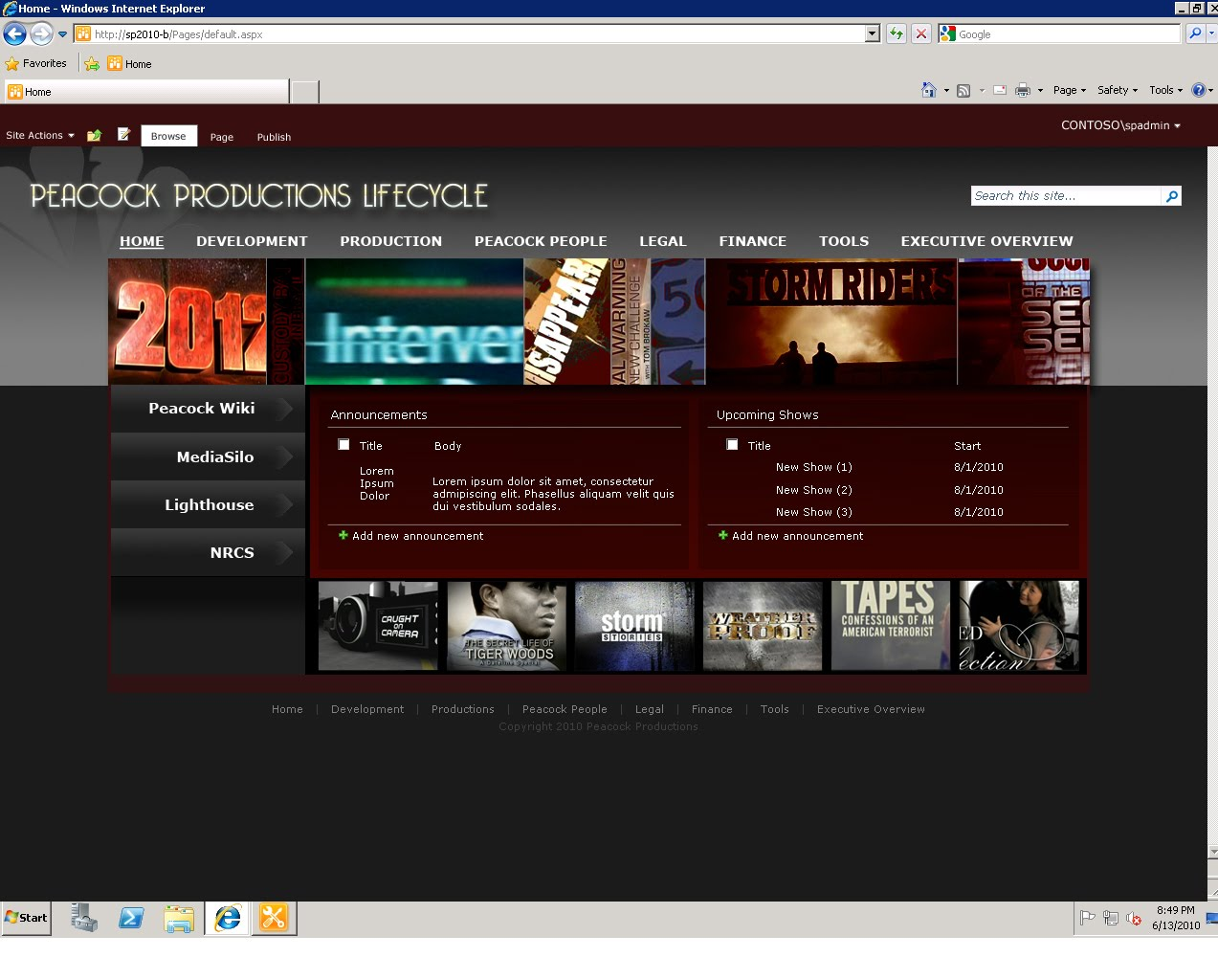 sharepoint 2010 branding templates - celina moser baginski sharepoint branding portfolio nbc