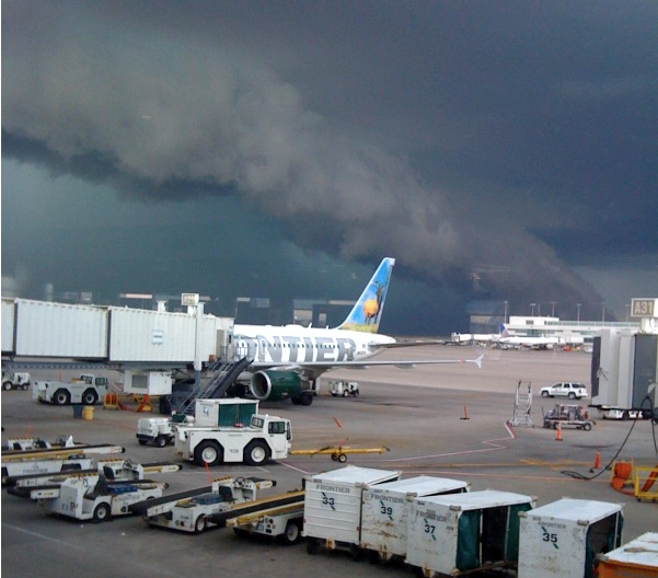 Denver International Airport: Mike Smith Enterprises Blog: Tornado Warning At Denver Airport