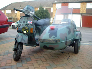 Watsonian Squire: Margate to Land's End by Vespa and Sidecar