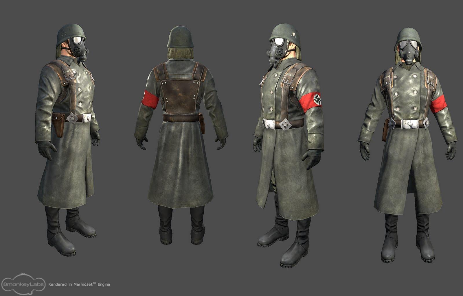 srinivas chimmani: Nazi soldier low poly