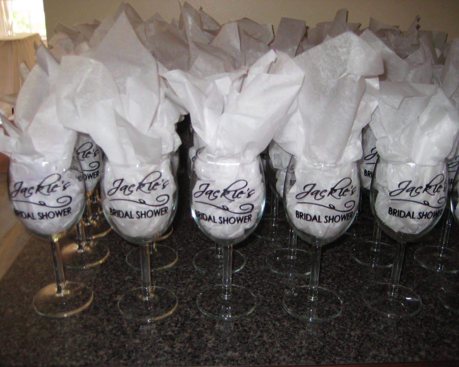 wine charm favors bridal shower