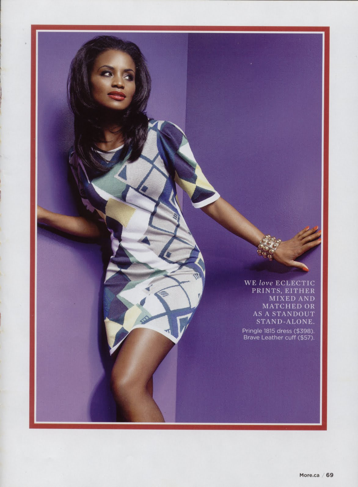 More Magazine November 2014 Issue: ELITE MODEL MANAGEMENT TORONTO : Charmaine Bernard In More